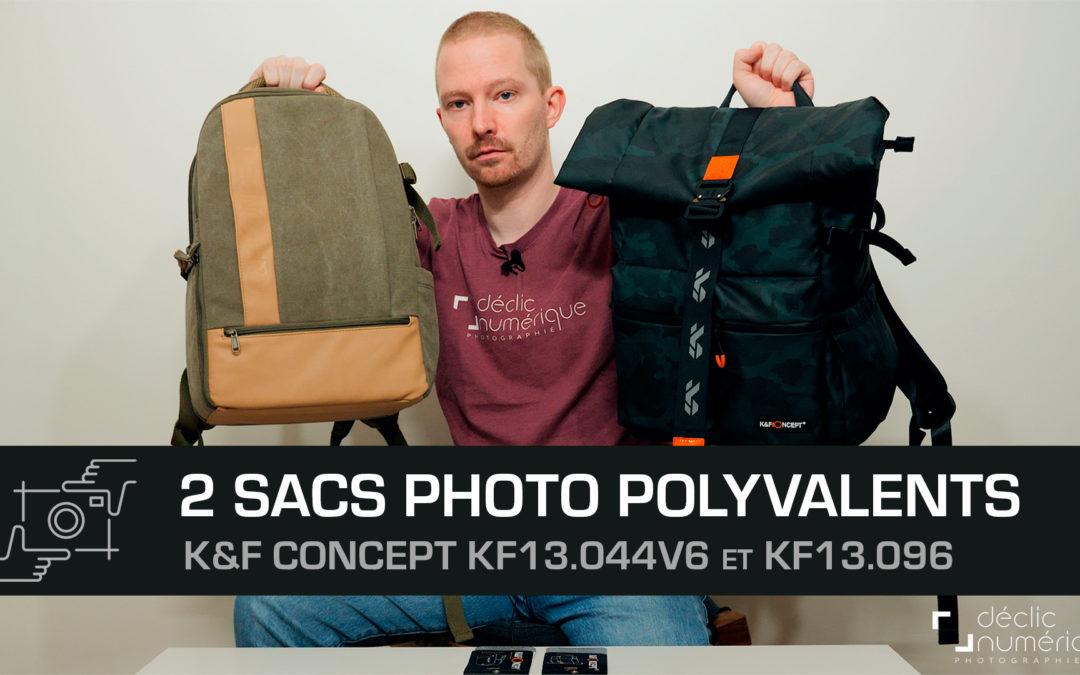 Deux sacs à dos photo polyvalents par K&F Concepts