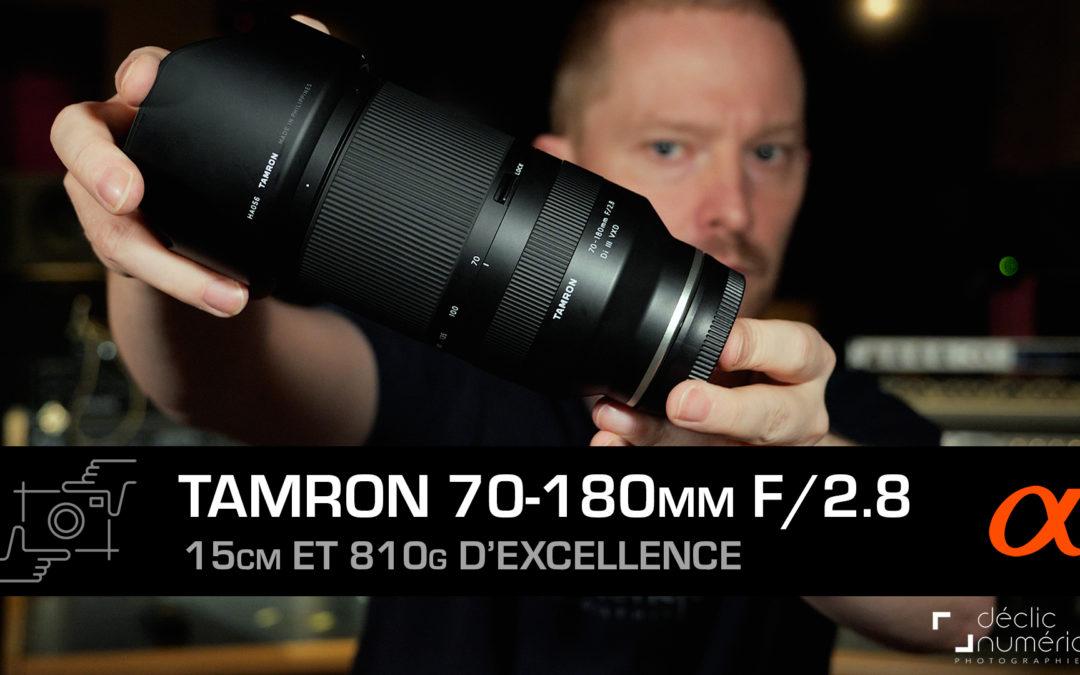 Tamron 70-180mm f/2.8 : 15cm et 810g d'excellence !
