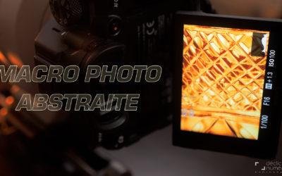 Macrophotographie abstraite avec des objets du quotidien