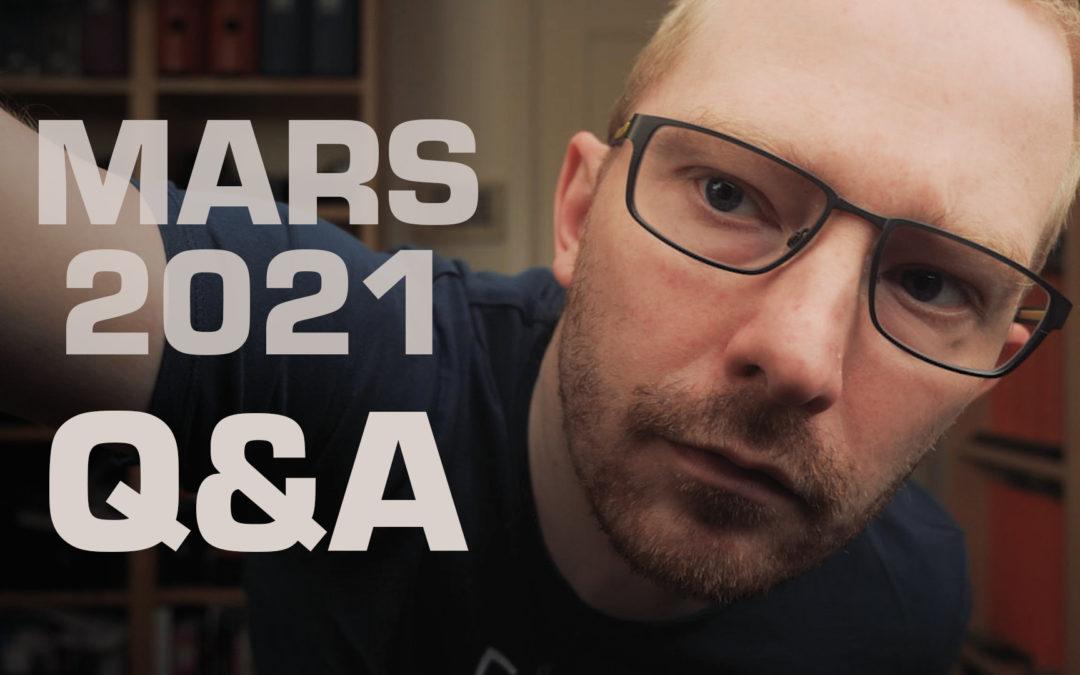 Questions / Réponses MArs 2021